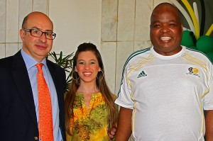 Embaixador da Grécia, Dimitri Alexandrakis e sua esposa, Aglaia Balta acompanhados pelo anfitrião